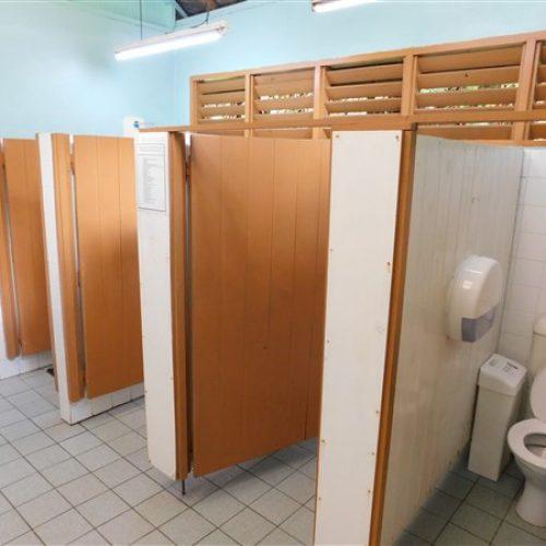 Ladies shared restrooms