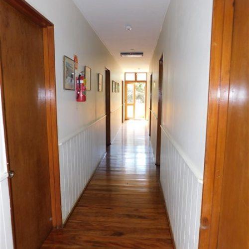 Block interior hallway - lower floor