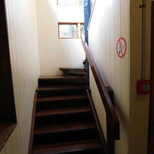 Block stairs to upper floor